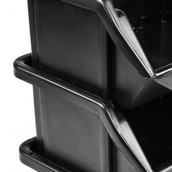 Pojemnik Kuweta Organizer Czarny 110 x 95 x 50 mm