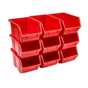 Pojemnik Kuweta Organizer Czerwony 245 x 160 x 126 mm