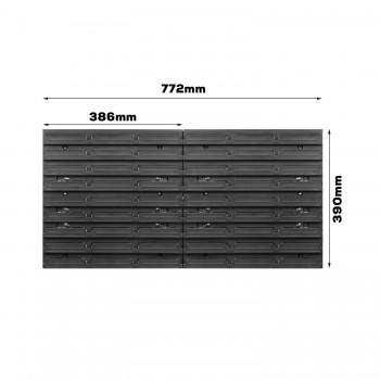 Tablica warsztatowa narzędziowa 772 x 390 mm + 18 kuwet