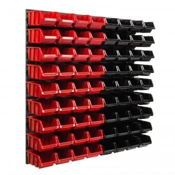Tablica warsztatowa narzędziowa 772 x 780 mm + 72 kuwet