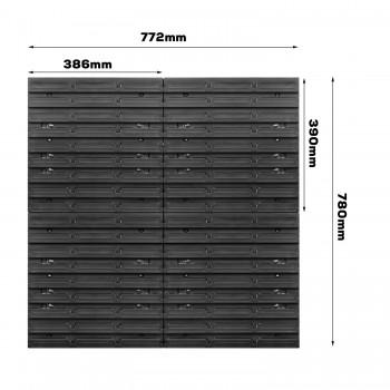 Tablica warsztatowa narzędziowa 772 x 780 mm + 36 kuwet