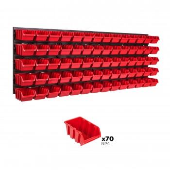 Tablica warsztatowa narzędziowa 1152 x 390 mm + 70 kuwet