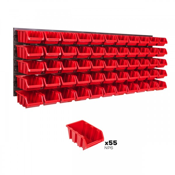 Tablica warsztatowa narzędziowa 1152 x 390 mm + 55 kuwet
