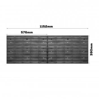 Tablica warsztatowa narzędziowa 1152 x 390 mm + 25 kuwet
