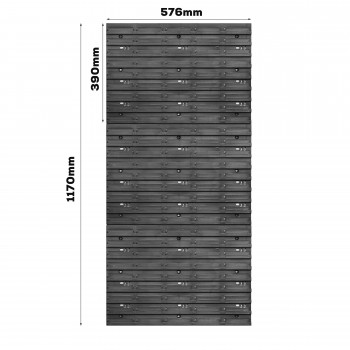 Tablica warsztatowa narzędziowa 578 x 1170 mm + 70 kuwet
