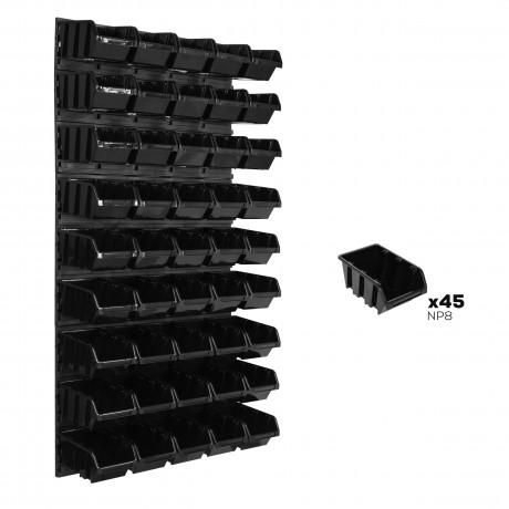 Tablica warsztatowa narzędziowa 578 x 1170 mm + 45 kuwet