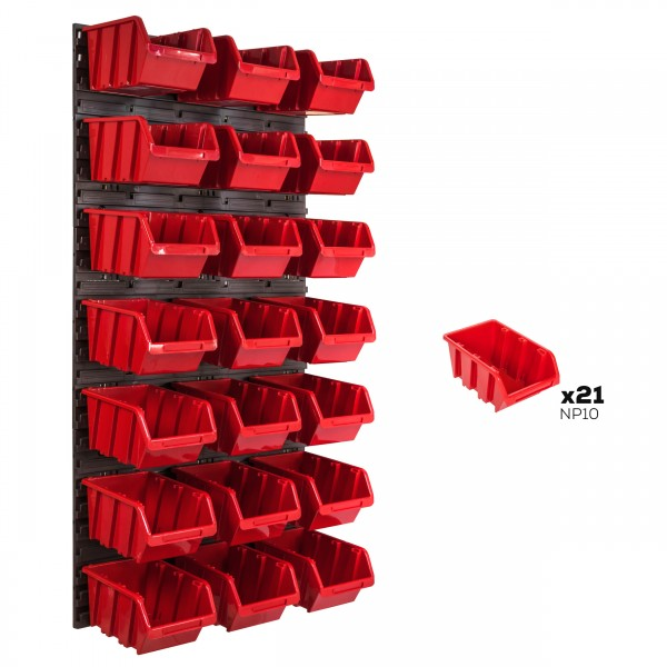 Tablica warsztatowa narzędziowa 578 x 1170 mm + 21 kuwet