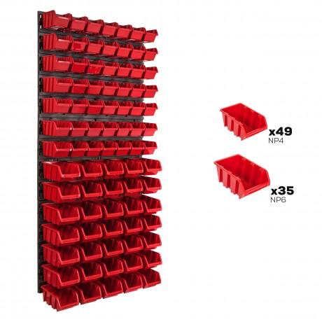 Tablica warsztatowa narzędziowa 578 x 1170 mm + 81 kuwet