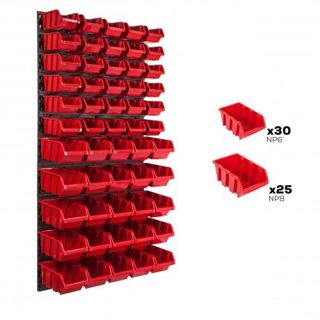 Tablica warsztatowa narzędziowa 578 x 1170 mm + 55 kuwet