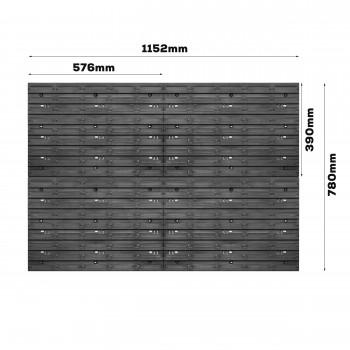 Tablica warsztatowa narzędziowa 1152 x 780 mm + 126 kuwet