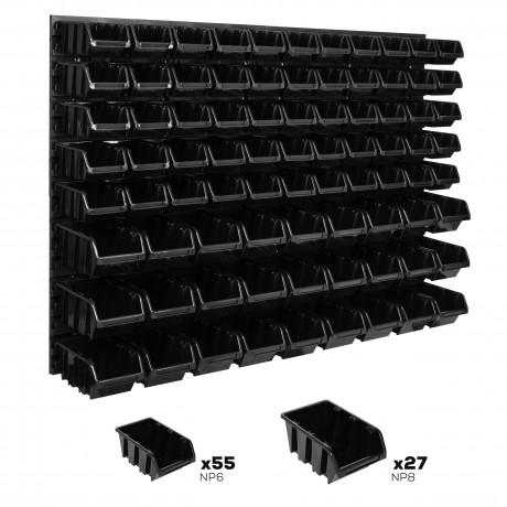 Tablica warsztatowa narzędziowa 1152 x 780 mm + 82 kuwet