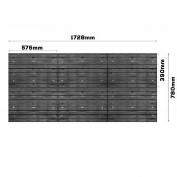 Tablica warsztatowa narzędziowa 1734 x 780 mm + 64 kuwet