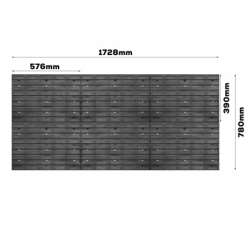 Tablica warsztatowa narzędziowa 1734 x 780 mm + 178 kuwet