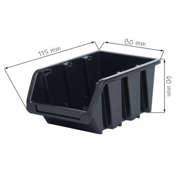 Kuweta pojemnik magazyn warsztat garaż 80x115x60 mm Czarny