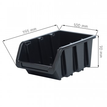 Kuweta pojemnik magazyn warsztat garaż 100x150x70 mm Czarny