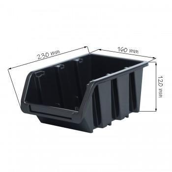 Kuweta pojemnik magazyn warsztat garaż 160x230x120 mm Czarny