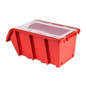 Pojemnik z pokrywą kuweta magazynowa 100x155x70 czerwony