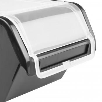 Pojemnik z pokrywą kuweta magazynowa 120x195x90 czarny