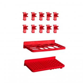 Tablica warsztatowa narzędziowa 105x77 cm + 39 kuwet i komplet uchwytów
