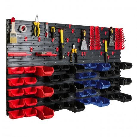 Tablica warsztatowa narzędziowa 140x77 cm + 52 kuwet i komplet uchwytów