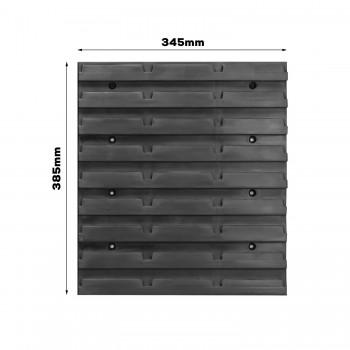 Tablica warsztatowa narzędziowa 140x77 cm + 60 kuwet i komplet uchwytów